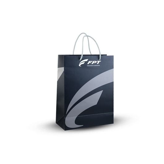 Picture of BLACK PAPER SHOPPING BAG
