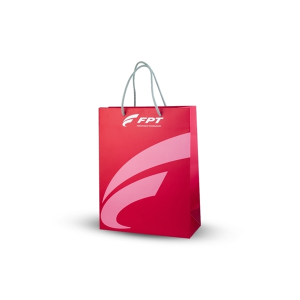 Picture of RED PAPER SHOPPING BAG