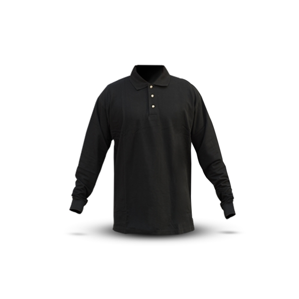 Picture of BLACK LONG-SLEEVED POLO SHIRT