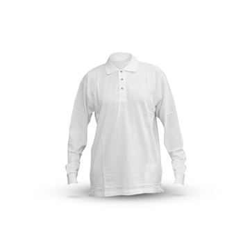 Picture of WHITE LONG-SLEEVED POLO SHIRT