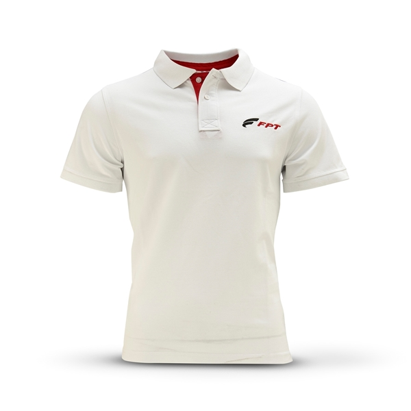 Picture of MEN'S WHITE SHORT-SLEEVED POLO SHIRT