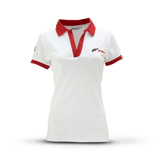 Picture of LADIES' WHITE SHORT-SLEEVED POLO SHIRT