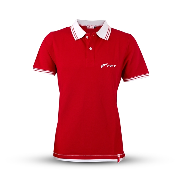 Picture of Men's red polo shirt